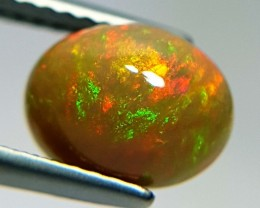 1.74 ct Crystal Fire Oval Cabochon Natural Ethiopian Fire Opal