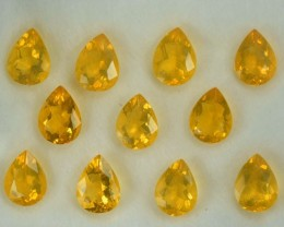 8.64 Cts Natural Mexican Fire Opal Pear Cut 11 Pcs