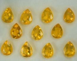 8.64 Cts Natural Mexican Fire Opal Pear Cut 11 Pcs