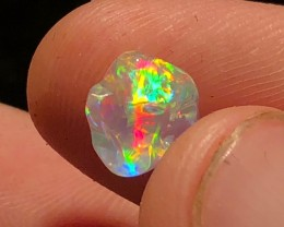 2.1ct GEM! FULL SPECTRUM Transparent Mexican Crystal Opal (OM)