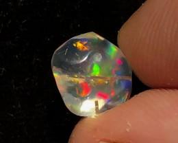 3.1ct RUTILATED  Brilliant Mexican Crystal Opal (OM)
