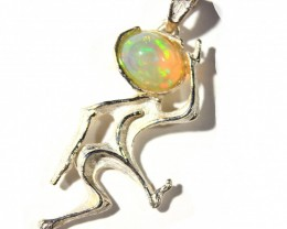 Pendant Silver 925 with Wello Opal Tot. Cts.19   CV31