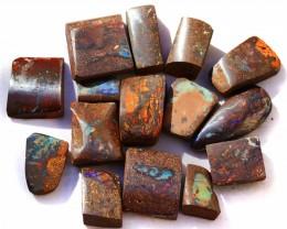 2000CTS Suit BEADS Opal cutters  Parcel 16 boulder Opals. WS284