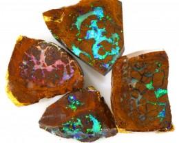 30.40cts 4pcs  Koroit Boulder Opal Plarcels WS291
