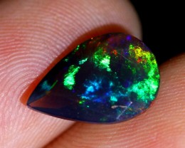 1.50ct Faceted Ethiopian Welo Smoked Black Opal