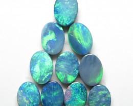 7mm  x 5mm  10 Stone Australian Doublet Opal Parcel