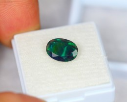1.22Ct Natural Ethiopian Welo Smoked Black Faceted Opal Lot K205