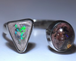 Sz8.5/10 ADJUSTABLE  SOLID CRYSTAL OPAL HIGH QUALITY .925 STERLING FABULOUS
