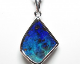 Queensland Boulder Opal Freeform Hand Made Pendant