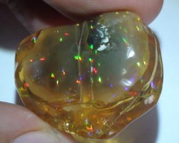 40.20 ct Ethiopian Gem Confetti  Carved Free form Welo Opal Specimen