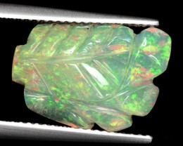 4.01 Cts Natural Ethiopian Multi-Color Play Opal Carving
