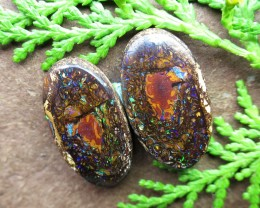"44cts,""BOULDER MATRIX OPAL~GEM PAIR!!"""