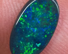 BLACK OPAL LIGHTNING RIDGE SOLID 1.23ct GEM $1 N/R AUCTION BOA200818