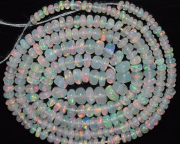 22.00 Ct Natural Ethiopian Welo Opal Beads Play Of Color