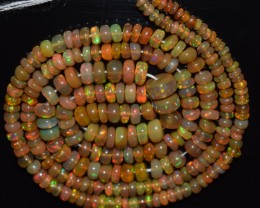 27.25 Ct Natural Ethiopian Welo Opal Beads Play Of Color