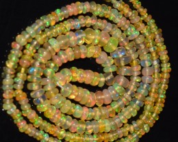 18.10 Ct Natural Ethiopian Welo Opal Beads Play Of Color