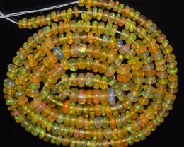 23.80 Ct Natural Ethiopian Welo Opal Beads Play Of Color