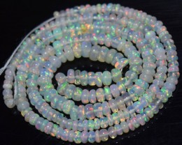 26.80 Ct Natural Ethiopian Welo Opal Beads Play Of Color