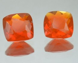 1.03 Cts Natural Mexico Fire Opal PAIR