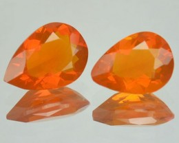 1.45 Cts Natural Fire Opal Mexico 2 Pair