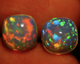 4.56 CT 9X9 MM PINFIRE PATTERN!!! FLASHY  WELO OPAL PAIR-SI356