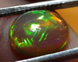 2.90 ct Ethiopian Natural Dark Base Gem Color Welo Opal Cab