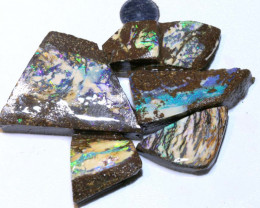 WOOD - CATHEDERALPATTERN BOULDER OPAL ROUGH 110 CTS DT-1059