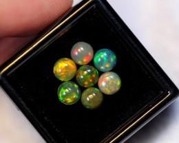 2.09ct 5.1mm Ethiopian Welo Solid Opal Parcel Lot