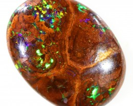 9.10CTS BOULDER MATRIX POLISHED STONE FLASHES OF ELECTRIC COLOUR - S731