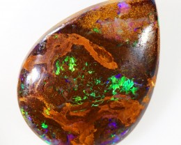 12.05CTS BOULDER MATRIX POLISHED STONE FLASHES OF ELECTRIC COLOUR - S732