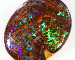 8.45CTS BOULDER MATRIX POLISHED STONE FLASHES OF ELECTRIC COLOUR - S738