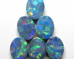 8mm  x 6mm - 6 Stone Australian Doublet Opal Parcel