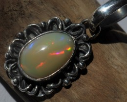 NATURAL OPAL HIGH QUALITY .925 STERLING FABULOUS PENDANT