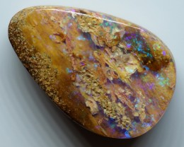 8.30CT VIEW  WOOD REPLACEMENT BOULDER OPAL OI857