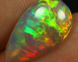 2.40cts Top 5/5 Broad Chaff Fire Natural Ethiopian Welo Opal