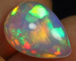 2.40cts Rainbow Neon Cascade Pattern Natural Ethiopian Welo Opal