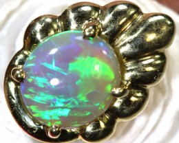 10.25-CTS OPAL 18K GOLD TIE PIN OF-2357