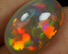6.40cts NEON CASCADE PATTERN Natural Ethiopian Welo Opal