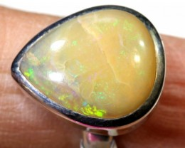 28.50- CTS PIPE OPAL SILVER RING OF-2366