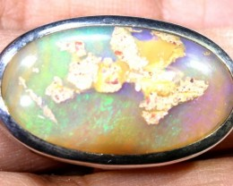 55.30- CTS PIPE OPAL SILVER RING OF-2368