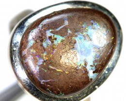 42.0- CTS KOROIT OPAL SILVER RING OF-2375
