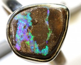 23.65- CTS KOROIT OPAL SILVER RING OF-2380