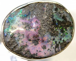 52.50- CTS BOULDER OPAL SILVER RING OF-2398