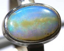 13.55- CTS PIPE OPAL SILVER RING OF-2426