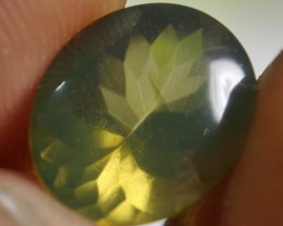 UNTREATED  GREENISH FIRE INDONESIAN FACETED OPAL 2.15 CT