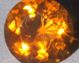 1.23ct Sparkling Rich Mango Mexican Fire Opal