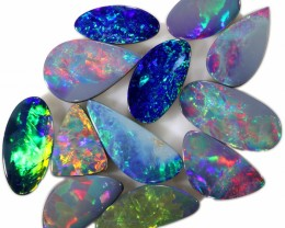 16.05 CTS   OPAL DOUBLET PARCEL 12 STONES-PASTEL TONE- FROM LIGHTNING RIDGE