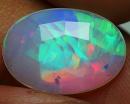 2.30 CRT BEAUTY FLAT FACETED NEON RIBBON PLAY COLOR WELO OPAL-