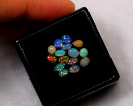 1.45ct Mix Size 4x3mm Ethiopian Welo Polished Opal Lot