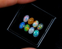 1.77ct 8pcs 5.8x4mm Ethiopian Welo Polished Opal Lot